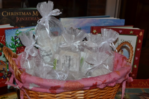 Christmas gift set basket