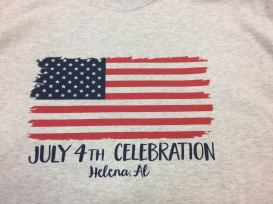 HBA T-shirt, Flag