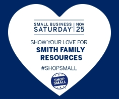 Smith Family Resources Small Business Saturday heart