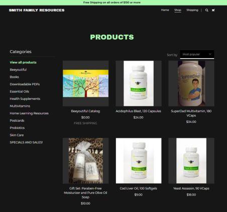 Website product snip